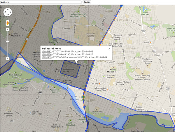 Google Map integration in Salesforce showing clients