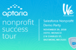 Salesforce Nonprofit Tips and Success Stories from Aptaria's Demo Party
